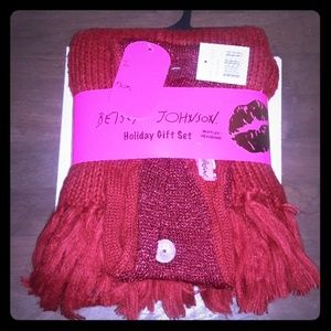 BetseyJohnson holiday gift set,  muffler/headband